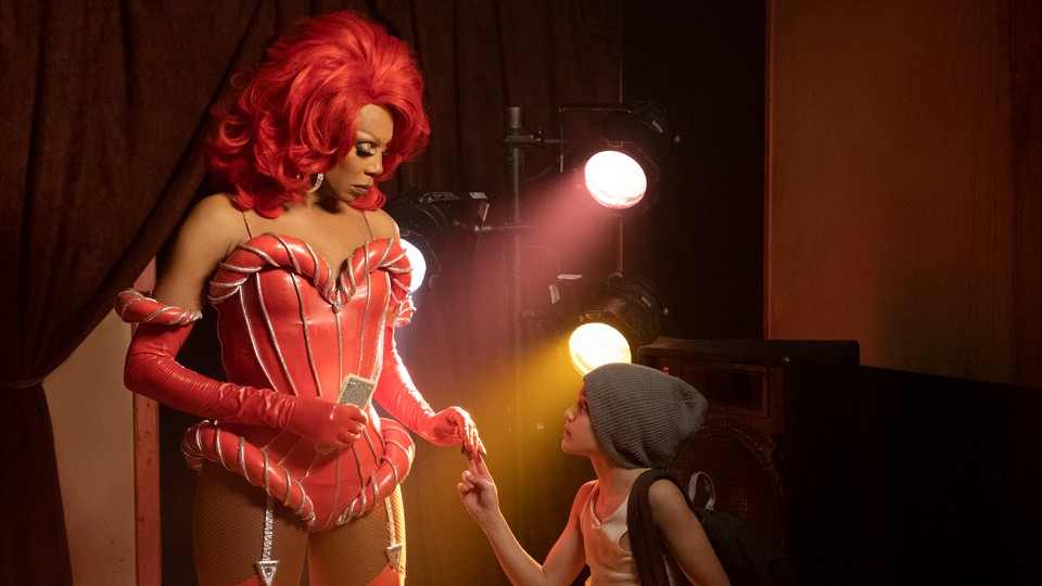 RuPaul and Izzy G. in 'AJ and the Queen.'