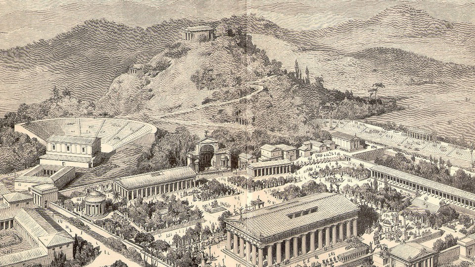 A picture of ancient Olympia