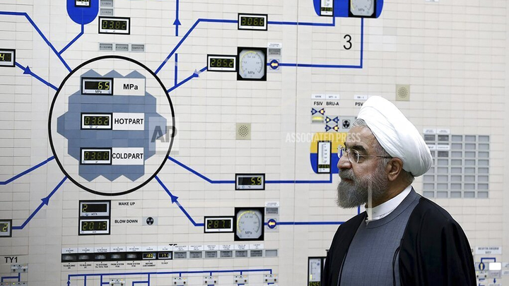 President Hassan Rouhani at the Bushehr nuclear power plant in 2015.