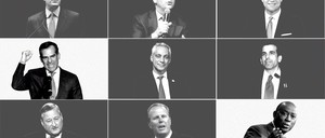 A grid of photos of mostly white, male mayors
