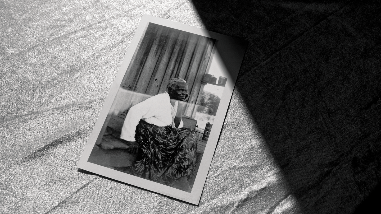 photograph of a FWP photo of Mollie Williams, half in shadow