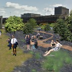 Akron's Innerbelt Highway divided the city for decades. Now a pop-up park promises reconnection.