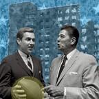 Photo: Jack Kemp meets California Governor Ronald Reagan in 1967
