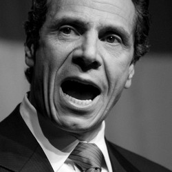 New York Governor Andrew Cuomo pointing and speaking