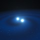 Artist's impression of neutron stars about to collide