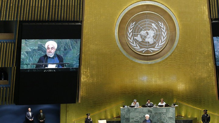 Iranian President Hassan Rouhani addresses the UN General Assembly.