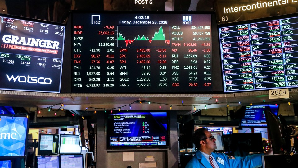 The Dow Jones Industrial Average after the close of trading on the floor of the New York Stock Exchange in December