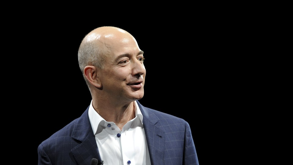 Jeff Bezos, the Amazon CEO, appears at an Amazon event in 2012.