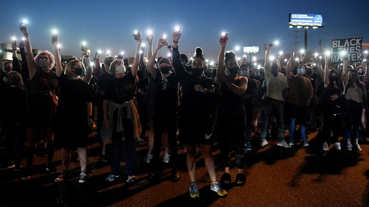 Protesters demonstrating for Breonna Taylor on September 24, 2020, in St. Louis, Missouri