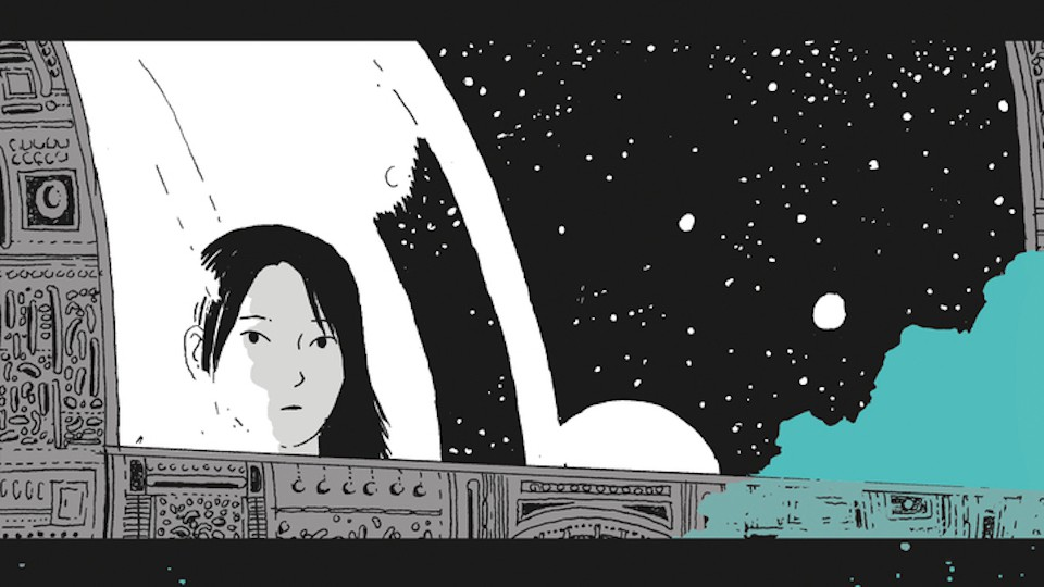 The cover of Tillie Walden's 'On a Sunbeam'