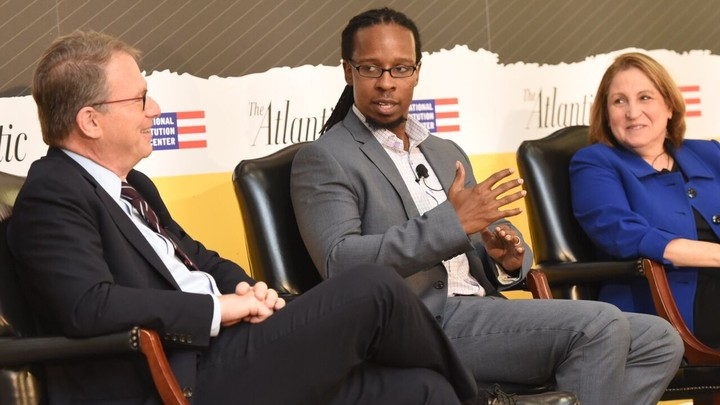 Jeffrey Goldberg, Ibram X. Kendi, and Ruth Marcus at The Atlantic Festival