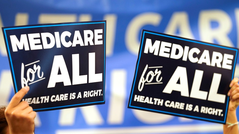 Signs promoting Medicare for All