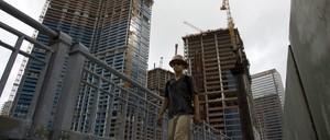Condo buildings under construction in Miami