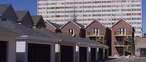 A photo of Chicago's Cabrini-Green public housing high-rise in 2003.