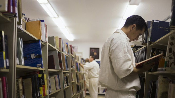 Inmates in the Darrington Unit prison in Rosharon, Texas, work towards a bachelor of science in biblical studies. The program is funded largely by the Heart of Texas Foundation.