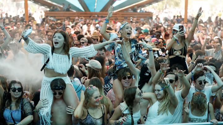 Revelers at the 2018 Coachella music festival