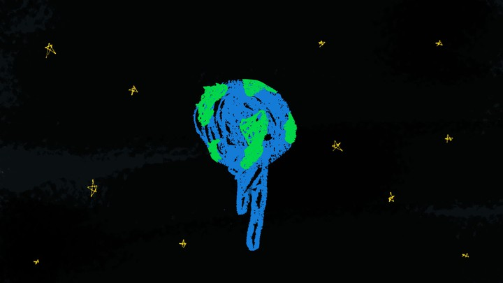 And illustration of the earth melting