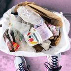 Plogging combines running with trash picking.