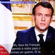 French President Emmanuel Macron delivers a televised address.