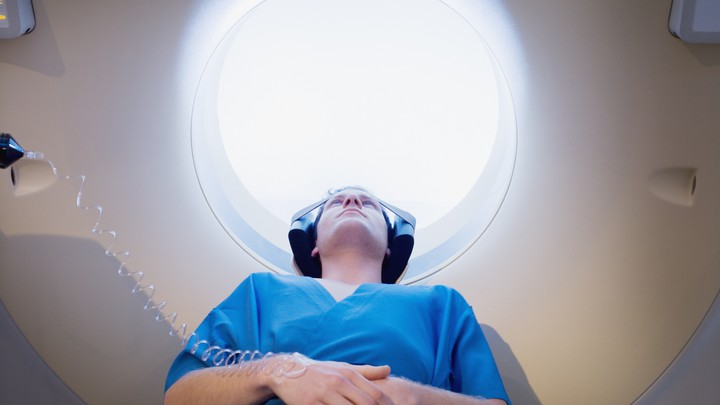 Patient getting MRI scan
