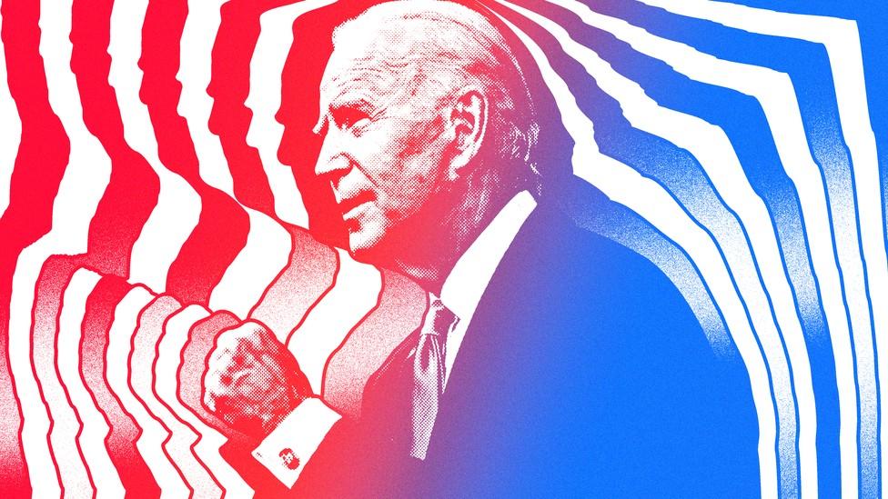Joe Biden emitting energy waves