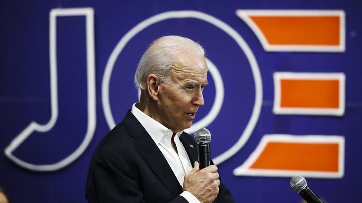 Joe Biden at a campaign rally in Iowa.