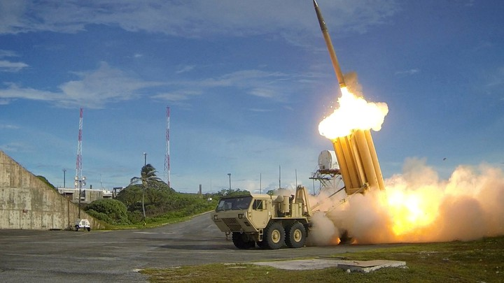 A Terminal High Altitude Area Defense (THAAD) interceptor is launched during a successful intercept test.