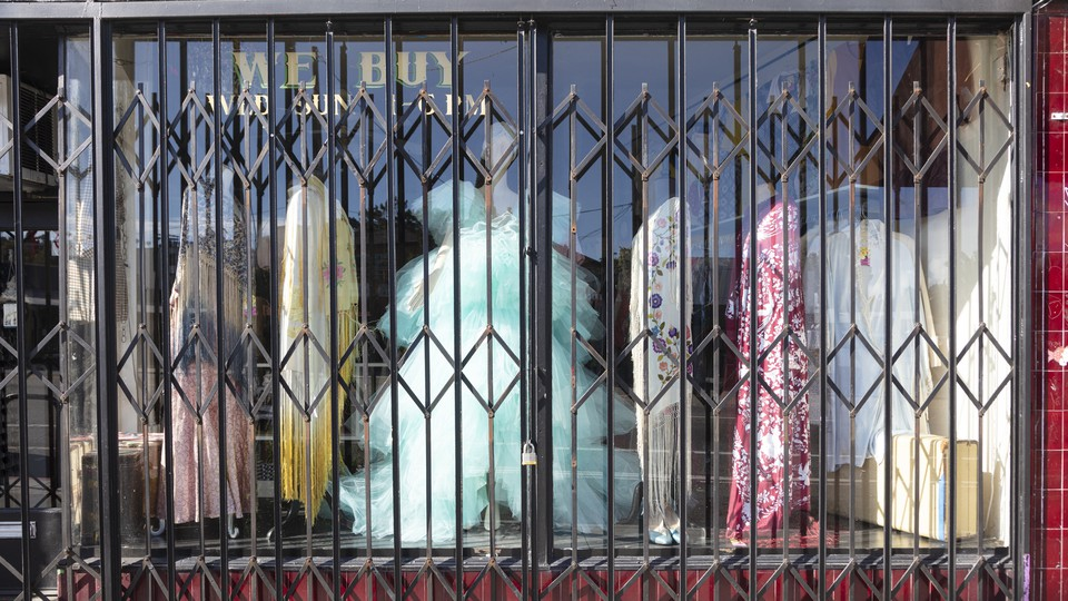 Closed store in Silverlake LA