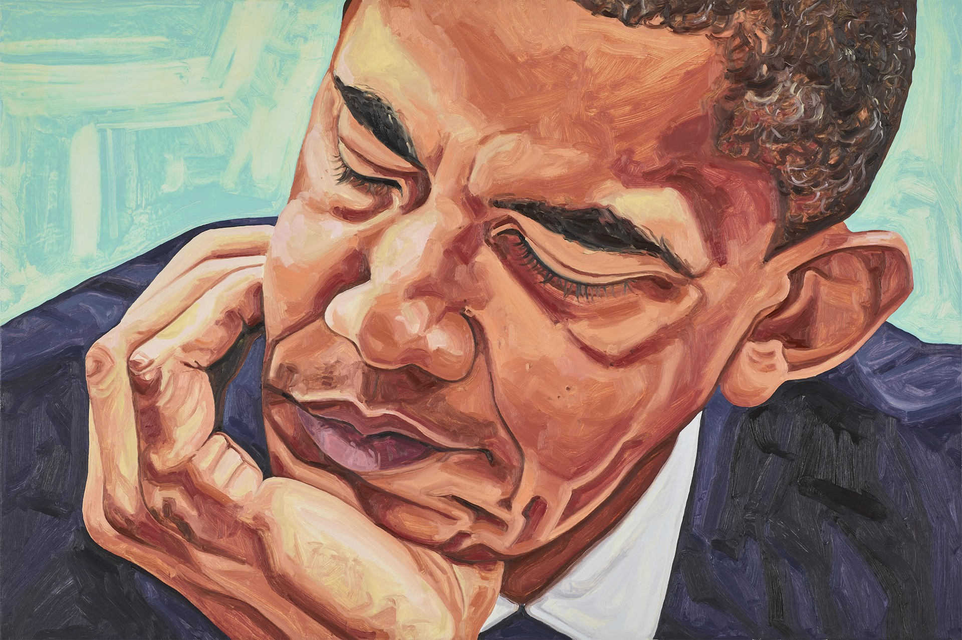 A painting of Barack Obama