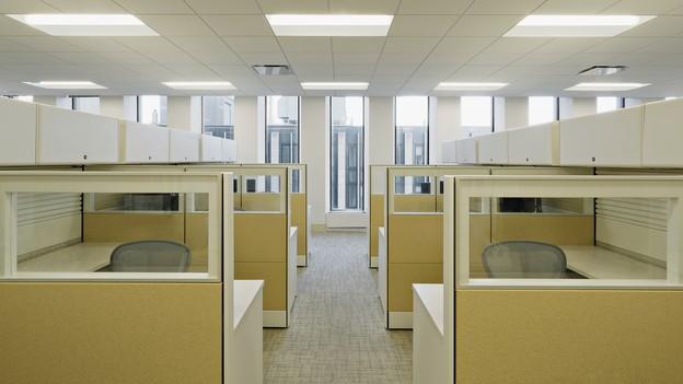Empty cubicles.
