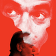 illustration of Martin Amis smoking with cloud of Martin Amis