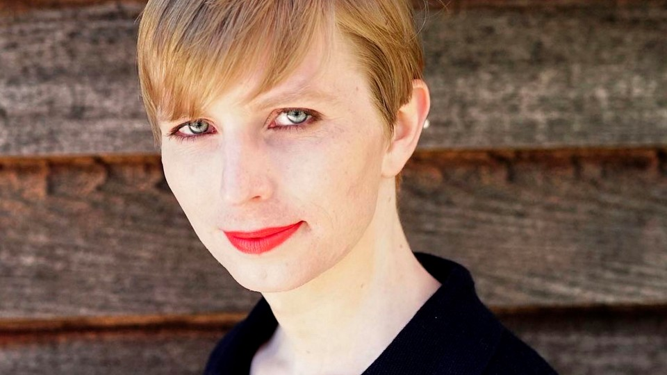Chelsea Manning pictured after her release from prison on May 18, 2017.