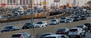 A photo of traffic outside Chicago.