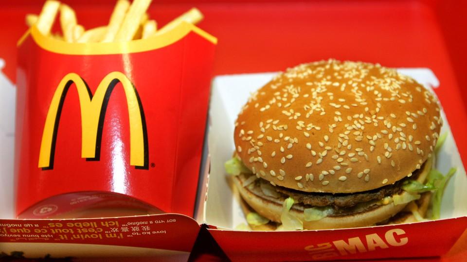 A Big Mac from McDonald's