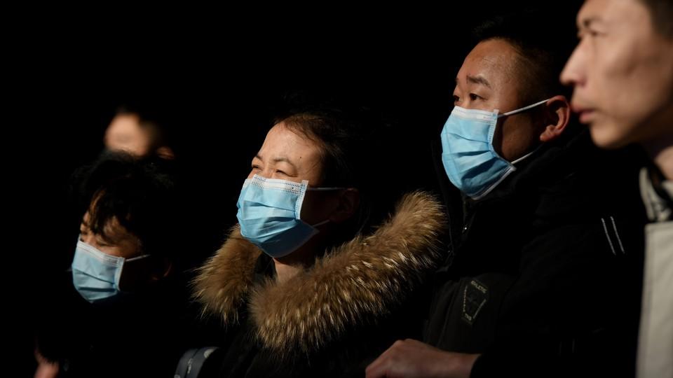 People wearing face masks