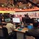 Staff work inside the headquarters of Al Jazeera Media Network in Doha, Qatar, on June 8, 2017.