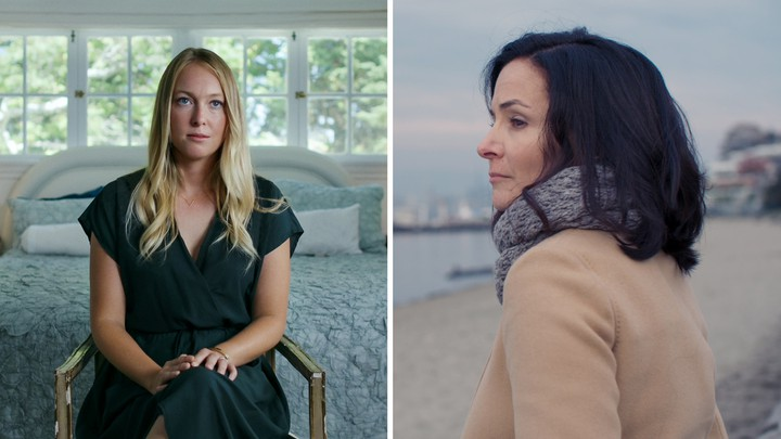 Images of the former NXIVM members India Oxenberg and Sarah Edmondson
