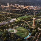 A photo of the planned Unity Park in Greenville, South Carolina.