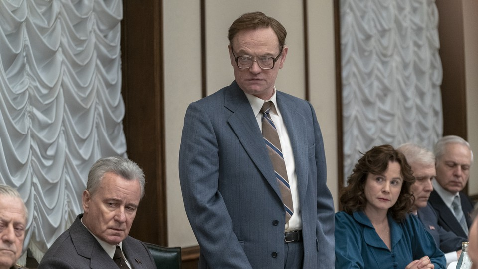 Stellan Skarsgård, Jared Harris, and Emily Watson play scientists and bureaucrats trying to stanch nuclear catastrophe in 'Chernobyl'