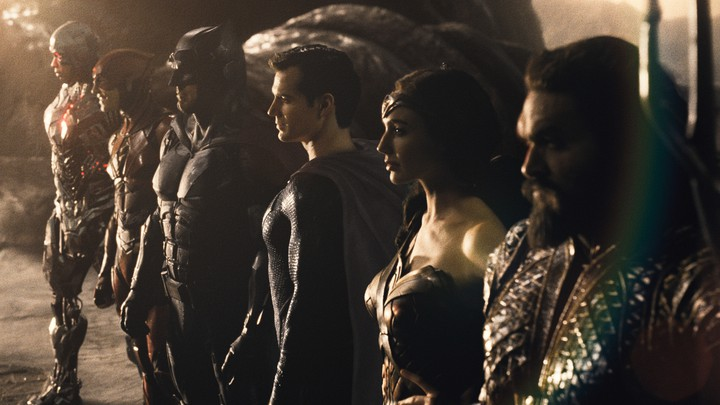 An assembly of heroes from 'Zack Snyder's Justice League'