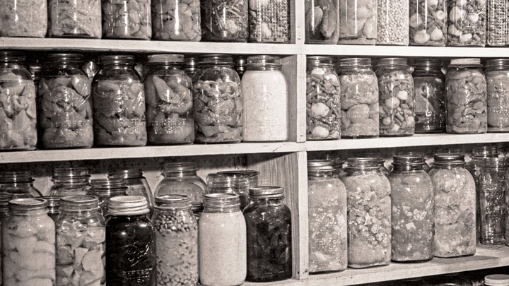 A pantry in the 1930s