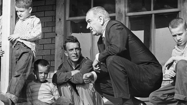 Lyndon B. Johnson visits Tom Fletcher in Kentucky, as captured by a photographer from Time Magazine