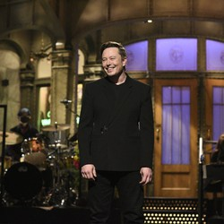 Elon Musk on the set of 'Saturday Night Live'
