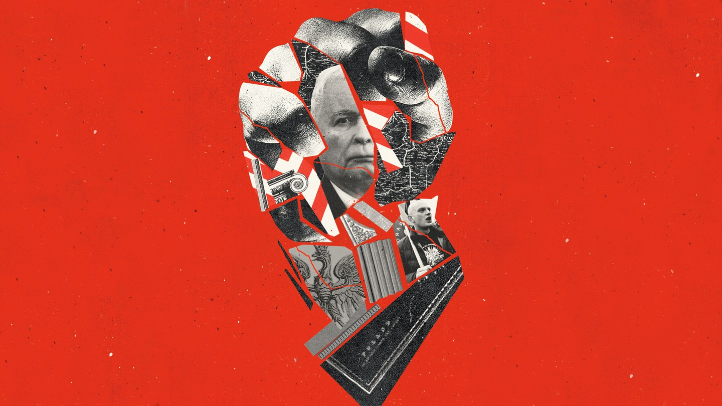 Illustration: a clenched fist collage