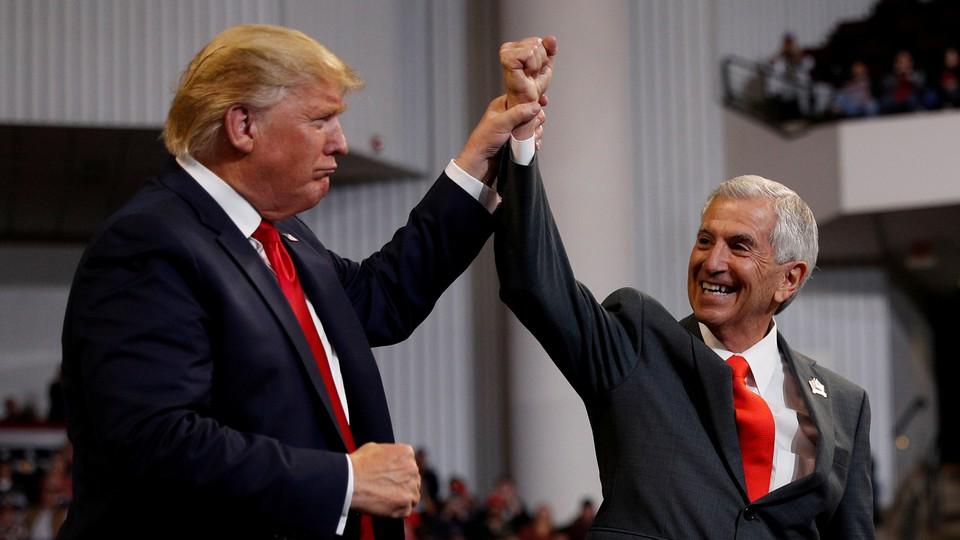President Donald Trump and Eddie Rispone