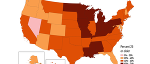 A map of geographic mobility in the United States