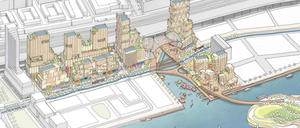 A rendering of Quayside, the waterfront development now being planned for Toronto.