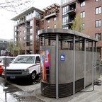 A public toilet in Portland, Oregon.