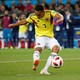 Carlos Bacca playing in the Colombia vs. England World Cup match.