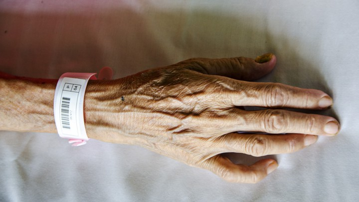 The hand of an elderly patient